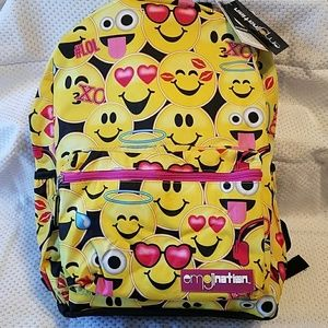 Emojination Accessories - Adorable NWT Emojination backpack w/3 pockets